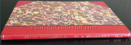 The speech Irish Home Rule shown here  rebound in three quarter red calf leather with marbled boards.