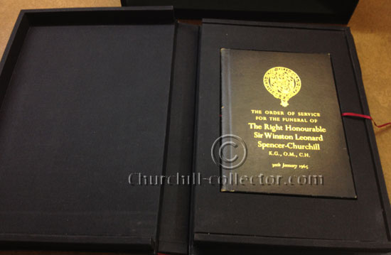Special edition in protective case: Sir Winston S. Churchill, Funeral Memorabilia: 30th January 1965
