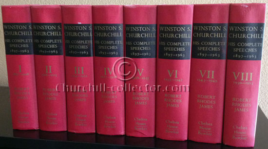 Churchill's Speeches: 1897-1963  8Vols, First Edition