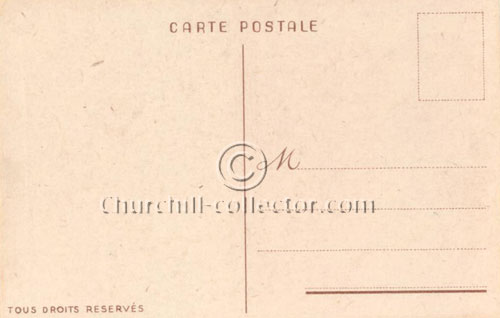 Vintage Postcard - Backside - Churchill, Brittania Rules the Waves