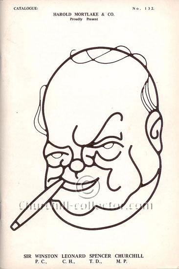 Front Cover of Harold Mortlake's Catalog No. 132 - Winston Churchill