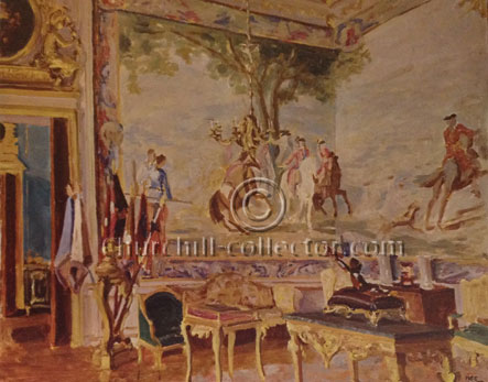 Winston Churchill Painting: Tapestries at Blenheim