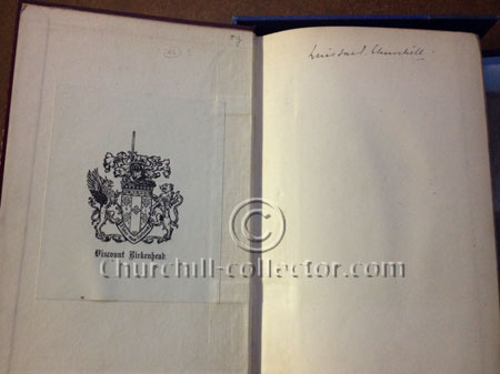 The bool: Liberalism and the Social Problem by Winston Churchill. 1st Edn. Signed by Churchill, 1909