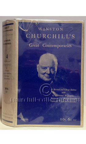 The book GREAT CONTEMPORARIES by Winston Churchill, 1938
