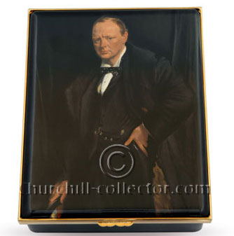 Commemorative Churchill Halcyon Days Enamel Box for sale. #35 of 50