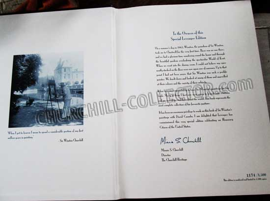 Churchill's Book. Lift Through His Paintings. Limited Edition. # 1174 of 1500