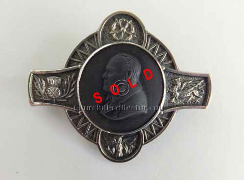 Winston Churchill Brooch Pin 1966