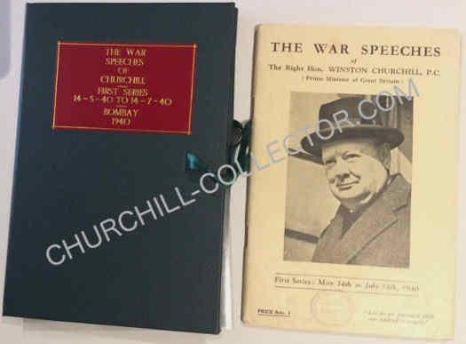 War Speech #1, of Winston Churchill. 1940