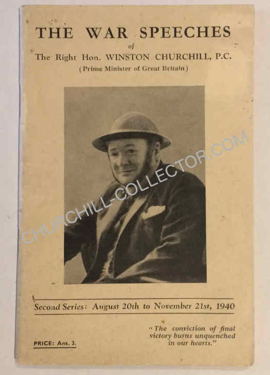 War Speech #2, of Winston Churchill. 1940