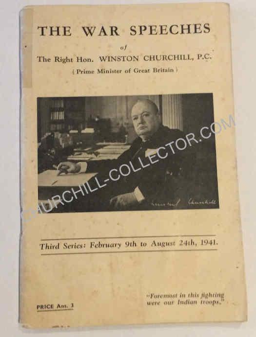 War Speech #3, of Winston Churchill. 1941