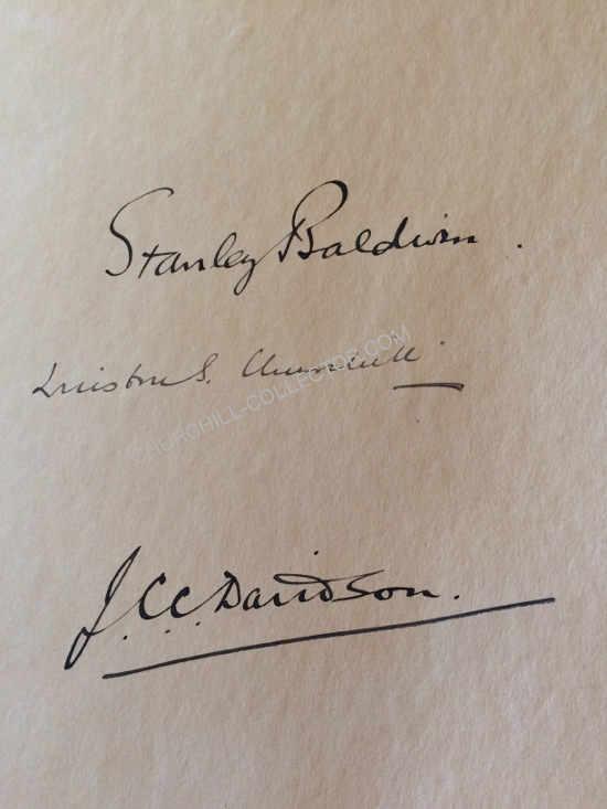 Signatures of Winston Churchill, Baldwin & Davidson