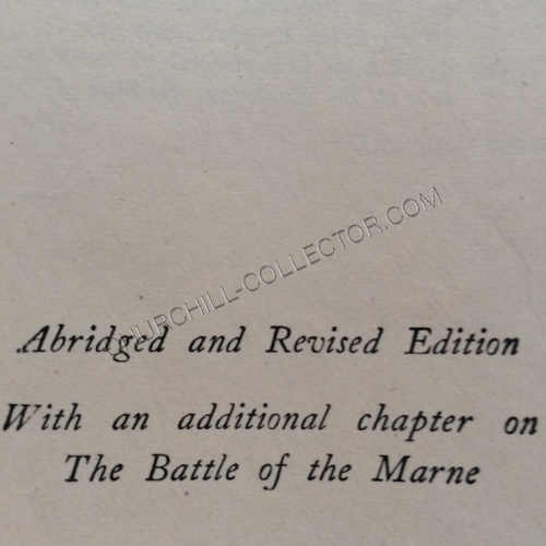 Abridged and Revised Edition. With an additional chapter on the Battle of Marne