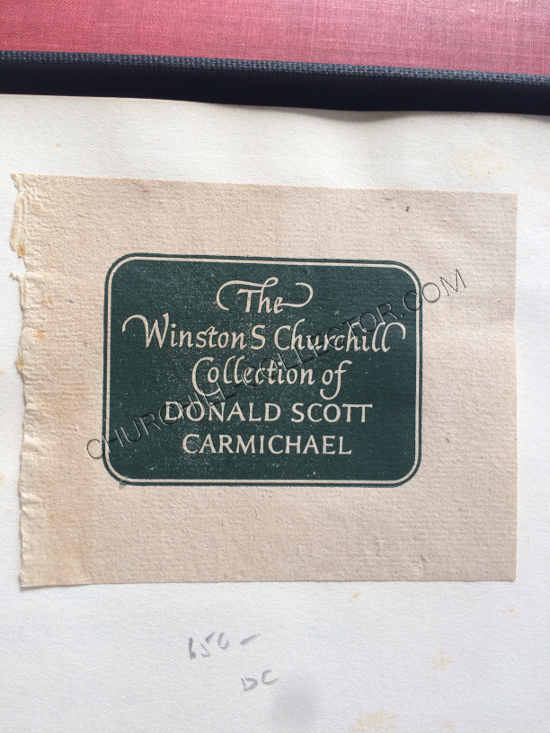 Bookplate of Donald Scott Carmichael on the front free endpaper