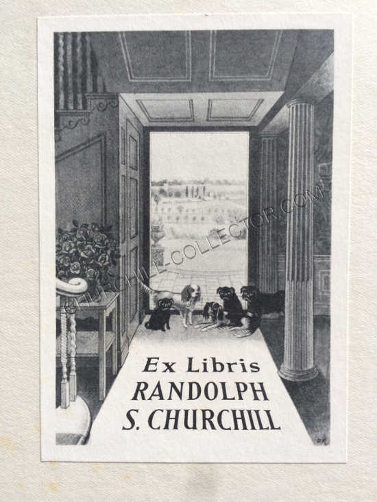 Randolph Churchill's bookplate on front and rear pastedown