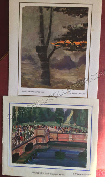 Christmas Cards from Winston & Clementine Churchill