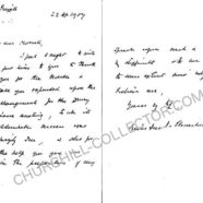 Winston Churchill Autograph Letter 1907 – signed by Churchill