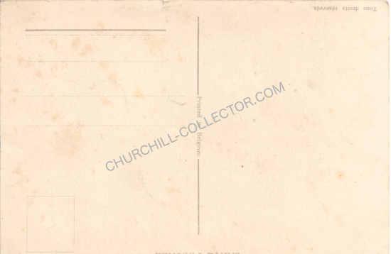 Back of Rare Vintage 1905 Postcard featuring Winston Churchill
