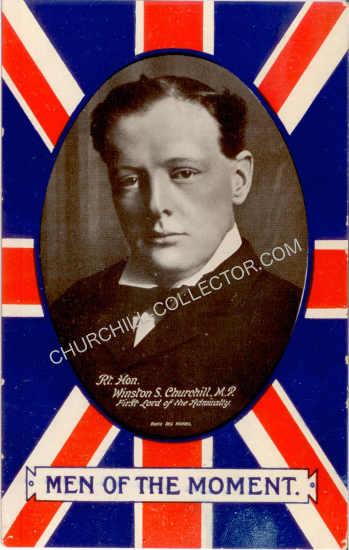 Rare Vintage 1905 Postcard featuring Winston Churchill