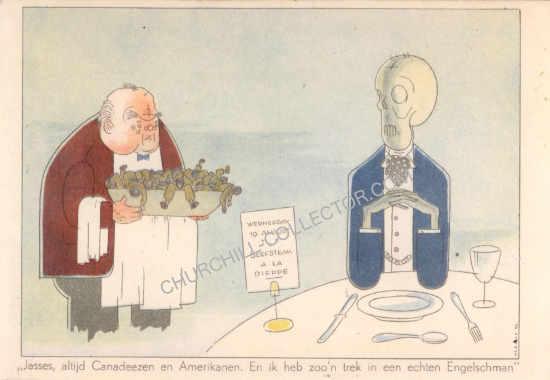 Rare Churchill postcard - Dutch Propaganda from 1942