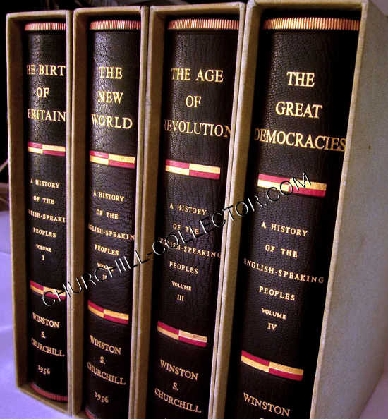 4 volume set by Winston S Churchill: History English-Speaking Peoples