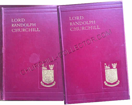 Lord Randolph Churchill 2 vol biography by his son, Winston S Churchill, 1906