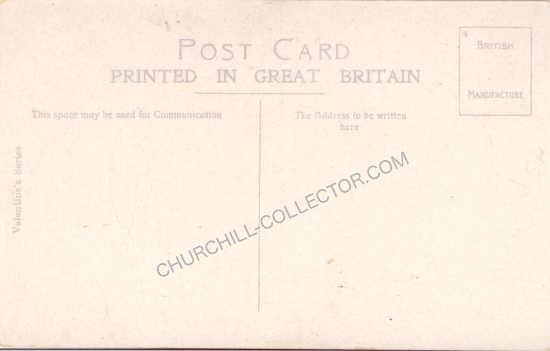 Back side: WW2 Postcard - Belgium Thanks Churchill