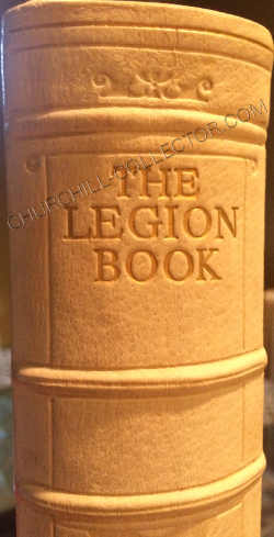 Spine of The Legion Book in Original full white pigskin binding, decorated in gilt and blind tooling