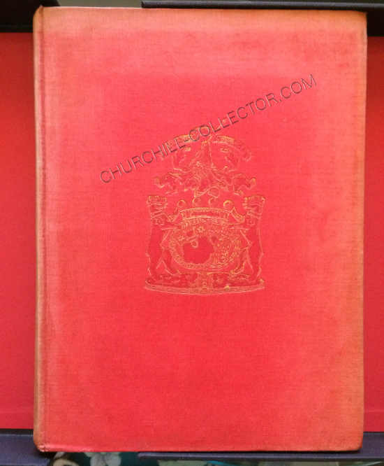 Front of book - showing the red boards with crest imprinted