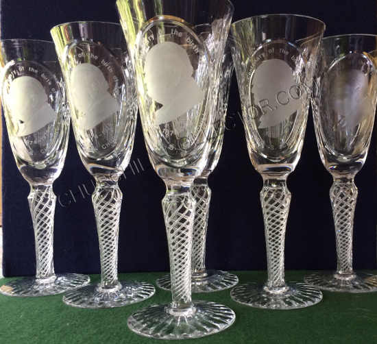 Churchill Centenary Toasting Glasses: 6 of a Limited Edition of 1000