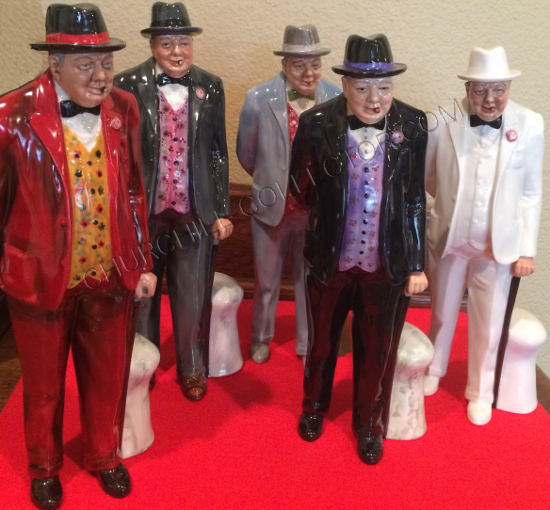 5 Winston Churchill Royal Doulton Figurines – Churchilliana