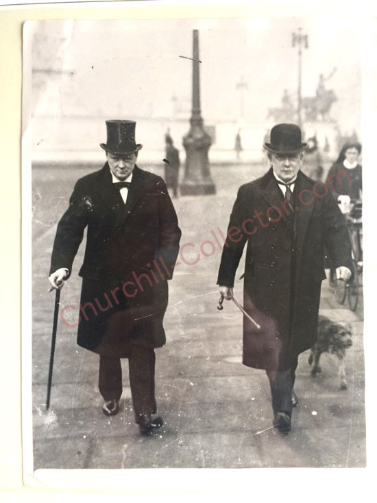 Picture Winston Churchill Quo: Churchill Holograph Exchange Of Notes
