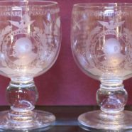 Royal Brierley Crystal Goblets – Winston Churchill USA Honorary Citizenship 1964