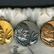 3 Churchill Centenary Pendants – Gold, Silver & Bronze