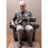 Capo di Monte, Churchill Centenary Figurine, 1974: Figure Modeled by Bruno Merli