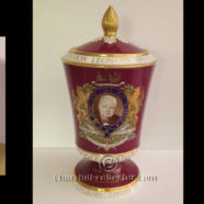 CHURCHILL SPODE URN & MATCHING PLATE 1967 – CHURCHILLIANA