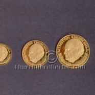 GOLD CHURCHILL MEMORIAL MEDALS 1965 – Set of 5