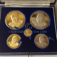 CHURCHILL MEMORIAL MEDALS 1965 -3 Gold, 2 Silver