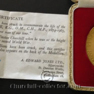 CHURCHILL MEMORIAL MEDAL 1965 – GOLD MEDALLION