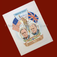 ORIGINAL WARTIME POSTER – CHURCHILL & ROOSEVELT: United For Victory