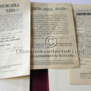 CHURCHILL SAID – Speech by Winston Churchill – 3 Editions