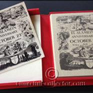 PROGRAM EL ALAMEIN ANNIVERSARY REUNION 1946 with CHURCHILL'S & MONTGOMERY'S SIGNATURE