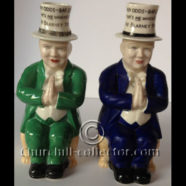 GOSS – 2 CHURCHILL TOBY JUGS 1927 – 1st TOBY JUGS OF WINSTON CHURCHILL: CHURCHILLIANA