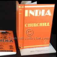 INDIA SPEECHES, WINSTON CHURCHILL – 1st American Edn