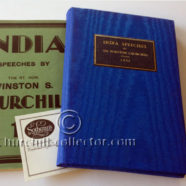 INDIA SPEECHES, WINSTON CHURCHILL – 1st Edition, 2nd Impression