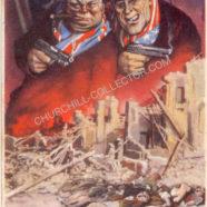 Churchill Italian Postcard WW2 Roosevelt