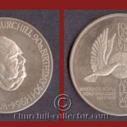 CHURCHILL 90th (NINETIETH) BIRTHDAY LARGE SILVER COMMEMORATIVE MEDAL, 1964