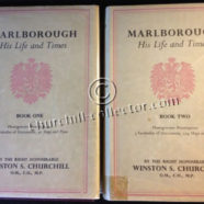 Marlborough – His Life and Times Inscribed by Churchill with his Signature
