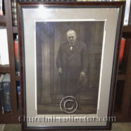 PORTRAIT WINSTON CHURCHILL – Large Mezzotint by Raeburn