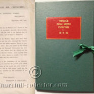 MESSAGE FROM MR. CHURCHILL: SCARCE BROADSIDE 1941