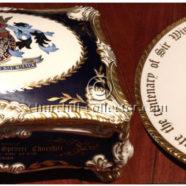WINSTON CHURCHILL CENTENARY PARAGON CIGAR BOX & PLATE 1974 – CHURCHILLIANA